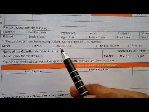 How to fill Bank of Baroda Saving bank account opening form[ Part 1 ] || HD || simplified in Hindi