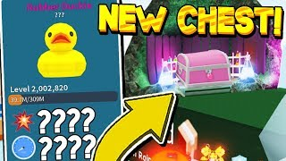 RAINFOREST UPDATE LEAK AND MYTHICAL DUCK HAT IN UNBOXING SIMULATOR! Roblox *2.5 SP DMG!*