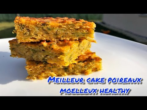 🍎❤️meilleur-cake-poireaux-exquis,-moelleux-au-four,-healthy---avec-farine-de-maÏs
