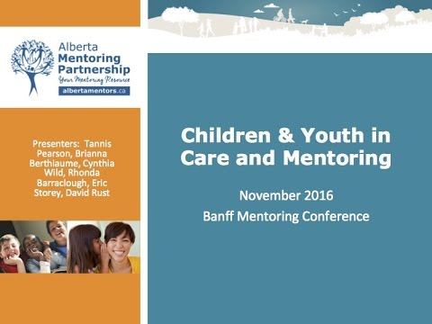 Children and Youth in Care and Mentoring - National Mentoring Symposium 2016