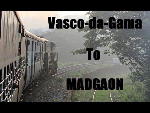 Vasco-da-Gama To Madgaon | Full Journey | Single Line Diesel Section !!