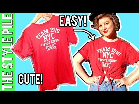 EASY T-SHIRT UPCYCLE | Style Pile #16