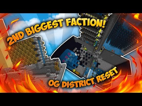 RAIDING AND RESETS | Minecraft Factions District #24