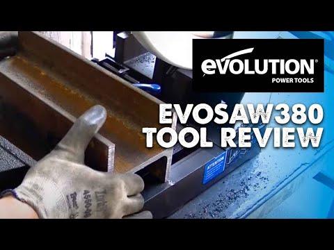 Отрезна машина EVOSAW355 със стоманен диск видео