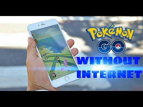 how to play pokemon go without internet/wifi