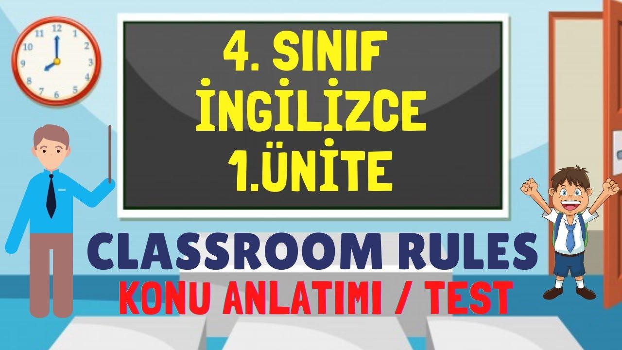 4.SINIF İNGİLİZCE 1.ÜNİTE CLASSROOM RULES KELİME TESTİ
