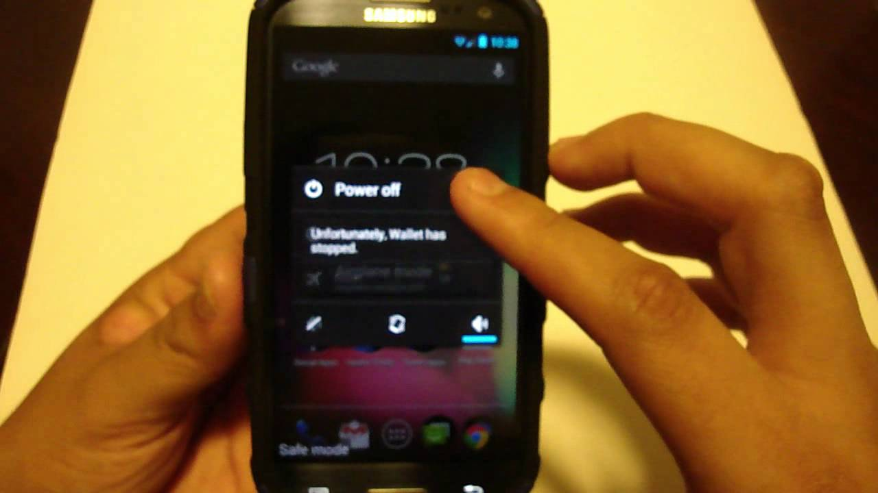 How To Access Safe Mode On Your Galaxy S3 - YouTube