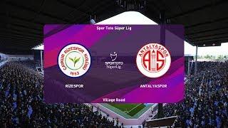 PES 2020   Rizespor vs Antalyaspor - Turkey Super Lig   09 November 2019   Full Gameplay HD