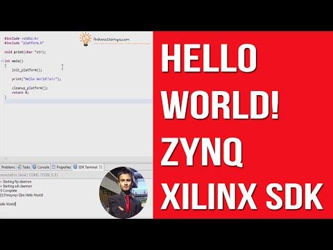Hello World UART FPGA Lab On Zynq Processor in Xilinx SDK - YouTube
