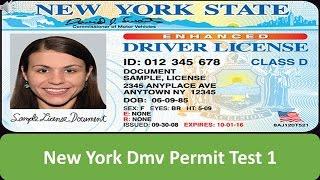 New York DMV Permit Test 1