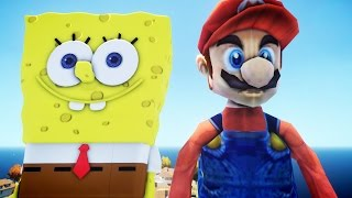 SPONGEBOB VS MARIO - GREAT BATTLE