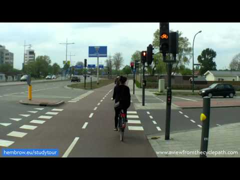 Deventer Direct: Excellent Dutch cycle-path connecting villages & suburbs to city centre