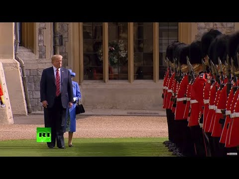 President Trump vs. Blocks Queen Elizabeth's Way At Official Function