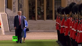 Peekaboo! Trump blocks Queen Elizabeth's way at official function thumbnail