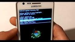 Samsung Galaxy S2 Passwort knacken umgehen Sicherheitscode vergessen Werkseinstellung zurücksetzen