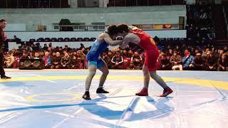 Спорт. Вольная борьба. Чемпионат Кыргызстана среди юниоров-2020. День 2 Мат A3