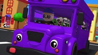 Колеса на автобусе | Автобусная песня в россии | детские рифмы | Nursery Song | Wheels On The Bus
