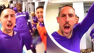 ... franck ribery and fiorentina celebrates their win over ju...