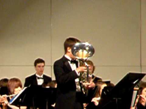 The Yellow Rose of Texas - Euphonium solo with band - Toby Furr /  Texas All-State Euphonium player