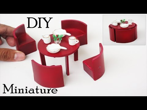 dining-table-set-|-diy-miniature-furniture-crafts-ideas