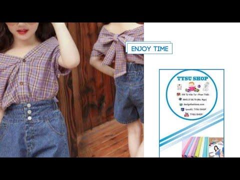 Dạy Cắt May Áo Sơ Mi Cách Tân Cho Bé |tysushop|741|sewing diy clothes