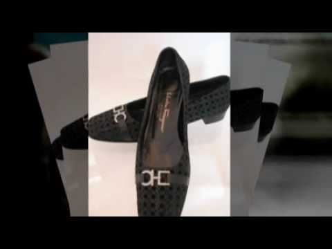 SOLD On EBAY / FERRAGAMO Black `Logo` Ladies Shoes  size 8.5 AA