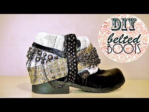 cbef24a30e8 DIY BELTED BOOTS | LAUREN IVRY - YouTube