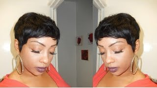 PIXIE SHORT WIG USING 27 PIECE HAIR!!!!