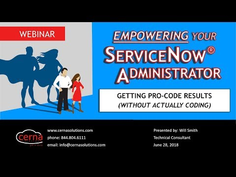 WEBINAR - Empowering Your ServiceNow® Administrator