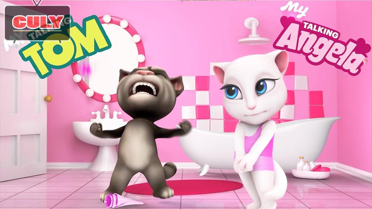 Trò chơi My Talking Tom mèo Angela – cu lỳ chơi game #26 – funny gameplay