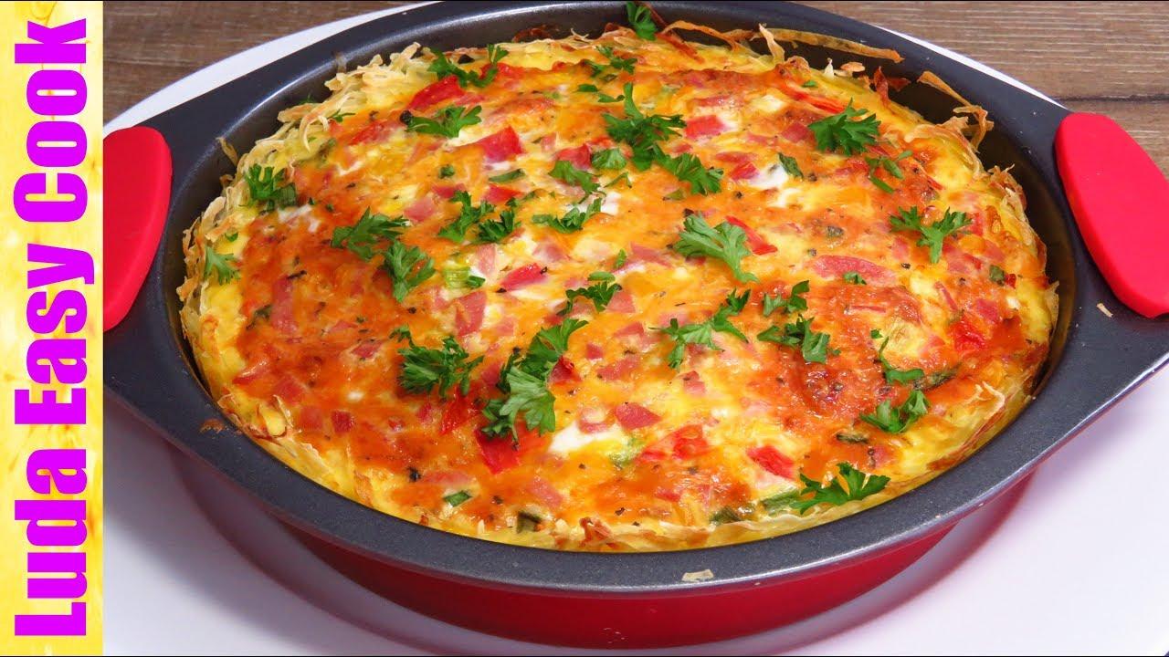 Запеканка ОМЛЕТ с картофелем и сыром Супер Завтрак для Всей семьи БЛЮДА ИЗ КАРТОШКИ В ДУХОВКЕ