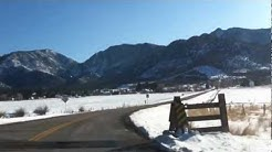 entering pine valley in Washington county Utah
