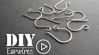 How to Make Perfect Earwires with a neat trick- Make 2 at a time
