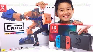 Lets check out the Nintendo Labo Robo Kit, Make Play Discover by Isaac