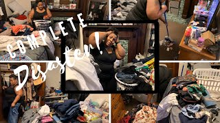 COMPLETE DISASTER MASTER BEDROOM /TRASHED BEYOND BELIEF / CLOSET CLEAN OUT / TIME LAPSE / SMTV