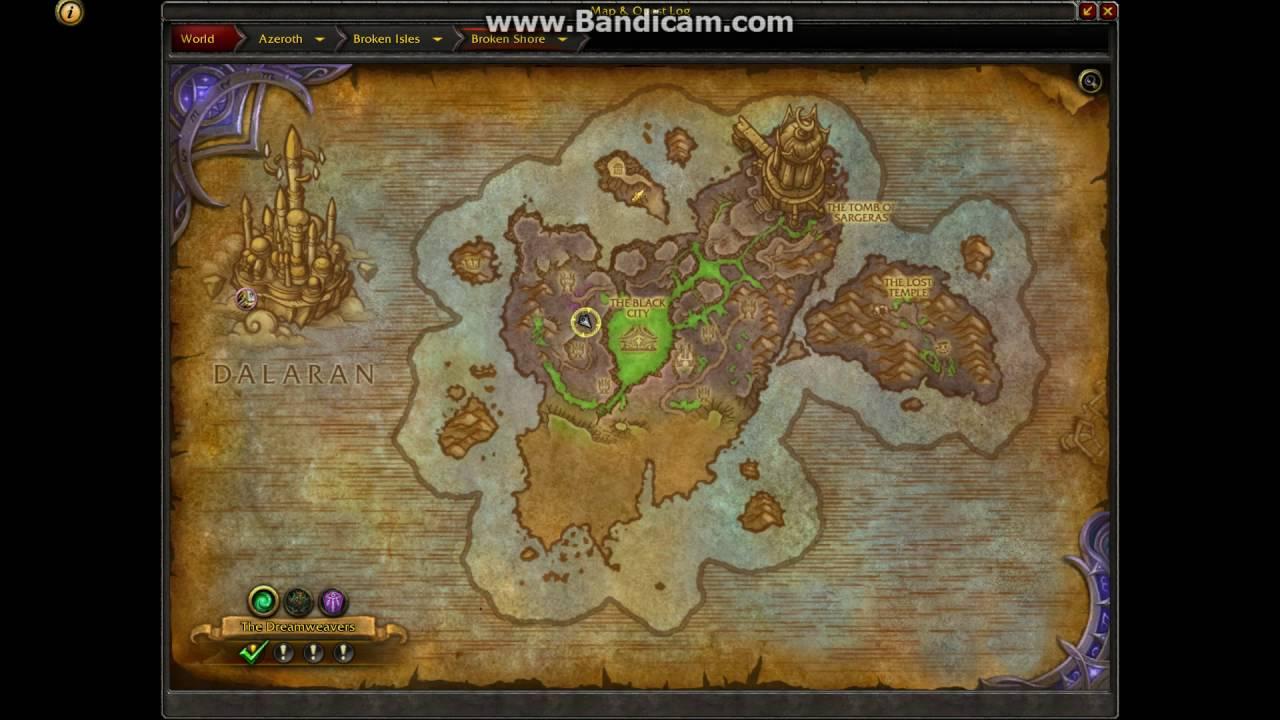 World Of Warcraft Legion Black City Area Youtube