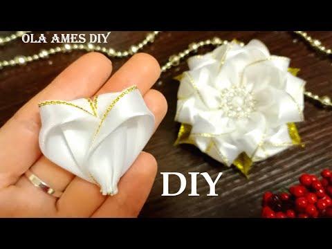 В них можно влюбиться 😍 ЦВЕТЫ из ЛЕНТ ЛЕГКО 😍 DIY Ribbon Flowers/ Flores De Fitas/ Ola AmeS DIY