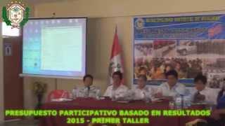 I Taller de Capacitación del Presupuesto Participativo 2015 - Hualmay