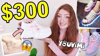 I WORE SHOES FROM YOUVIMI FOR A WEEK! $300 JAPANESE & KOREAN SHOE HAUL 2019