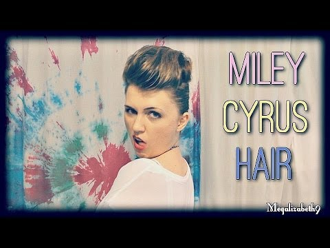 Miley Cyrus Pompadour Hair Tutorial Parody Make Medium To Long Hair Look Short Youtube