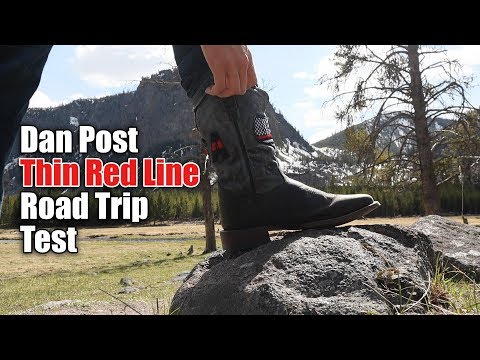Moving Test in Dan Post Thin Red Line Cowboy Boots