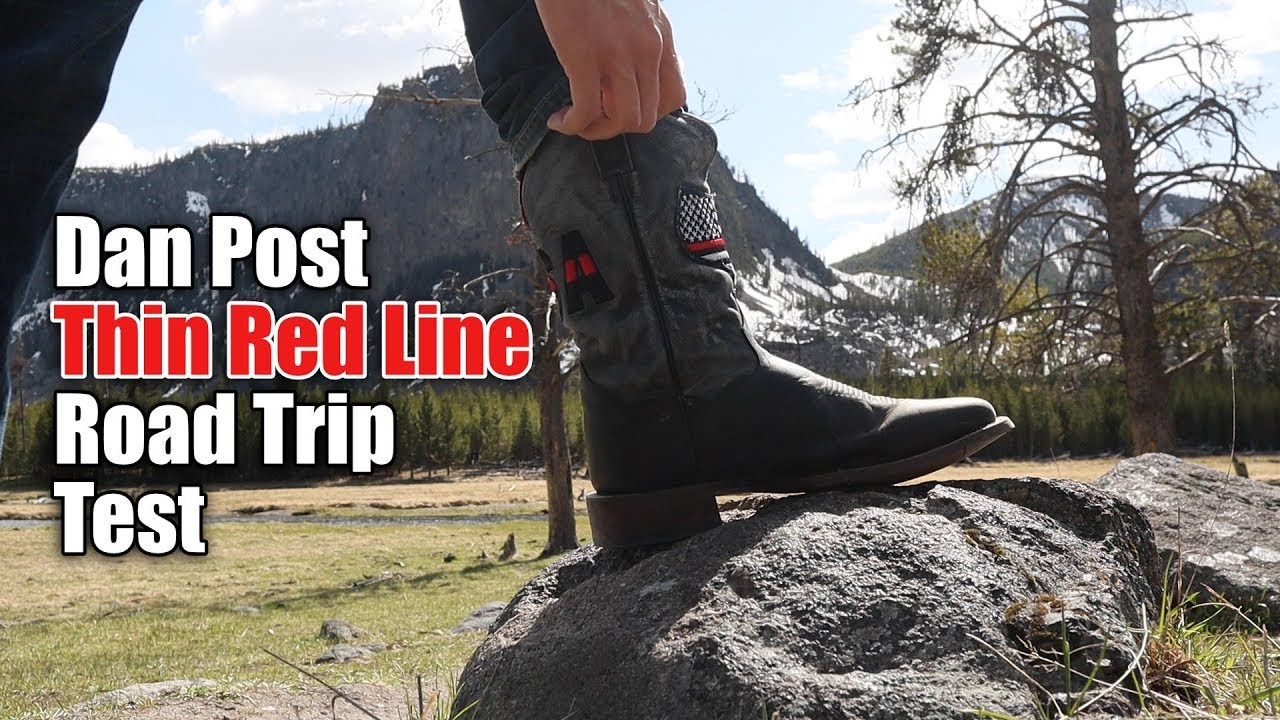 eb56b7e5ca4 Moving Test in Dan Post Thin Red Line Cowboy Boots