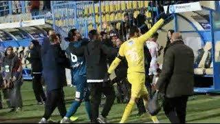 خاص بالفيديو  شاهد رد فعل «جنش» مع مدافع إنبي بعد هجوم جماهير الزمالك