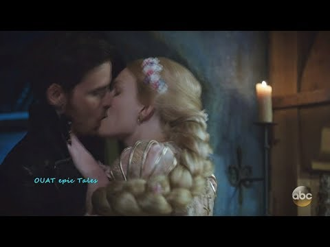 Once Upon A Time 7x07  Hook and Rapunzel Kiss & Hook Up Season 7 Episode 7