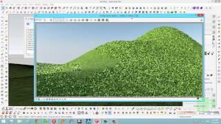 sketchup tutorial grass_tạo địa hình cỏ trong sketchup sử dụng vismat