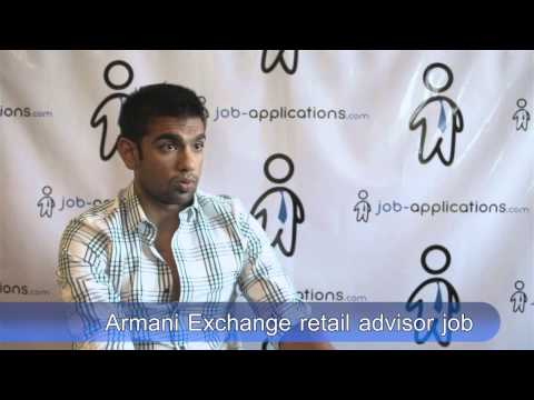 Armani Exchange Interview - Retail Adviser