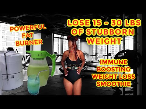 lose-15--30-lbs.-of-that-stubborn-belly-fat-|-immune-boosting-weight-loss-green-smoothie