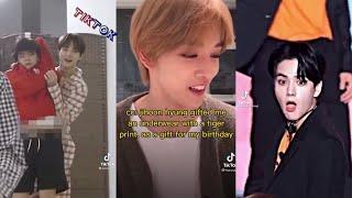 Kpop TikToks cause Jihoon enjoys surprising people with unusual gifts  // TikTok edits