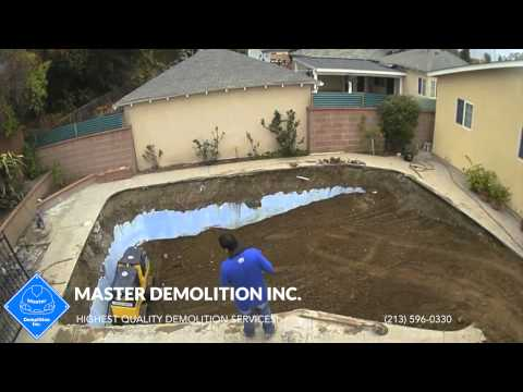 Pool Removal Los Angeles