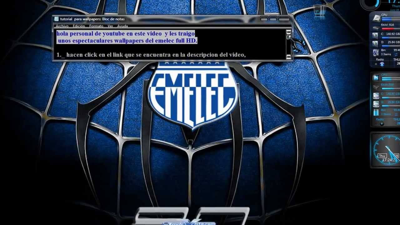 Live Wallpaper Hd 3d For Pc Mega Pack De Wallpapers Del Emelec Full Hd By Cana141971